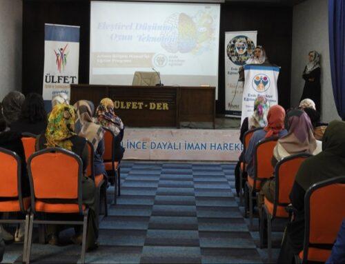 Adana Bölgesi EKE Hizmet İçi Programı Gerçekleşti